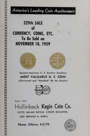 229th Sale of Currency, Coins, Etc.