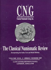 The Classical Numismatic Review: Vol. 22 No. 2