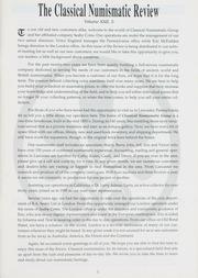The Classical Numismatic Review: Vol. 22 No. 3