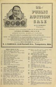 22nd public auction sale ... [11/05/1938]