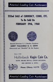 232nd Sale of Currency, Coins, Etc.