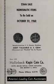 236th Sale: Numismatic Items: Spanish-American U.S. Brasher Doubloon - Most Valuable U.S. Coin