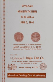 239th Sale: Numismatic Items