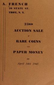 23rd auction sale of rare coins and paper money. [04/14/1945]