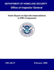 OIG-08-27 - Status Report on Open Recommendations to DHS Components