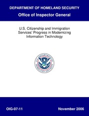 U.S. Citizenship and Immigration Services Progress in Modernizing Information Technology, OIG-07-11