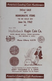 243rd Sale of Numismatic Items