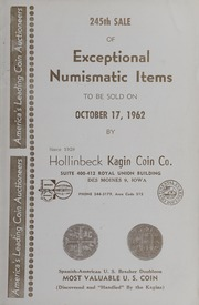 245th Sale of Exceptional Numismatic Items