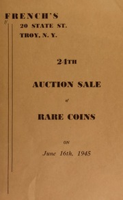 24th auction sale of rare coins. [06/16/1945]