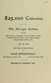 $25,000 Collection The Foreign Section ..., January 1907