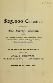 $25,000 Collection The Foreign Section ..., October 1904