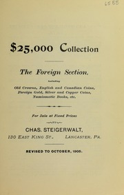 $25,000 Collection The Foreign Section ..., October 1905