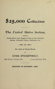 $25,000 Collection The United States Section ..., October 1908