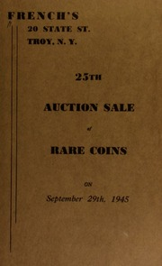 25th auction sale of rare coins. [09/29/1945]
