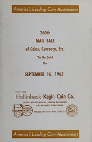 260th Mail Sale of Coins, Currency, Etc.