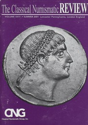 The Classical Numismatic Review: Vol. 26