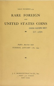 276th sale : collection of United States gold, silver and copper coins ... [02/06/1932]