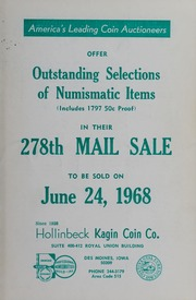 278th Mail Sale: Outstanding Selections of Numismatic Items
