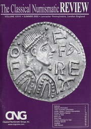 The Classical Numismatic Review: Vol. 27