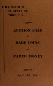 27th auction sale of rare coins and paper money. [04/25/1946]
