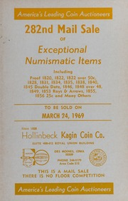 282nd Mail Sale of Exceptional Numismatic Items