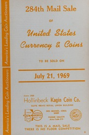 284th Mail Sale of United States Currency & Coins