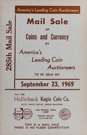 285th Mail Sale of Coins and Currency