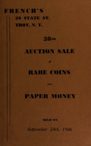 28th auction sale of rare coins and paper money. [09/24/1946]