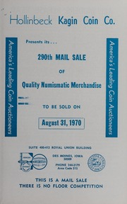 290th Mail Sale of Quality Numismatic Merchandise