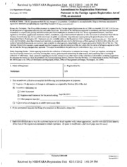 VisitBritain Foreign Agents Registration Act filing
