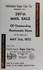 297th Mail Sale Of Outstanding Numismatic Items