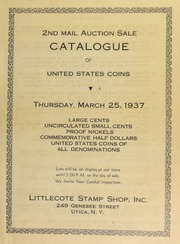 2nd mail auction sale of United States coins ... [03/25/1937]