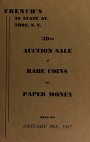 30th auction sale of rare coins and paper money. [01/30/1947]