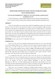 31. Applied Anticancer Activity Of Gallic Acid On Cancer Cell Lines Y. Priyadarshini Devi