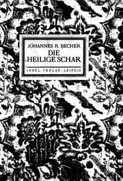 Die Heilige Schar Microform Gedichte Becher Johannes
