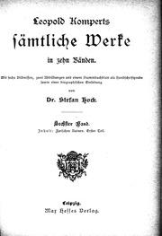 Vol 6: Leopold Komperts Sämtliche Werke microform : in zehn Bänden
