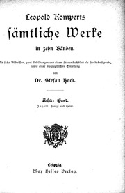 Vol 8: Leopold Komperts Sämtliche Werke microform : in zehn Bänden