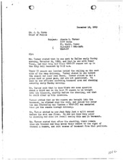 JFK Assassination DPD File 3255