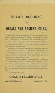 33 1-3 % Discount on American and Foreign Medals and Ancient Coins, No. 57A