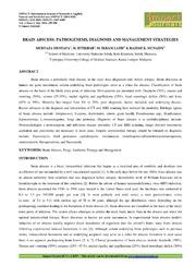 34. Applied Brain Abscess Pathogenesis, Diagnosis And Management Murtaza Mustafa