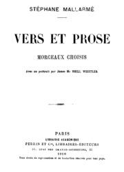 Vers et prose : morceaux choisis