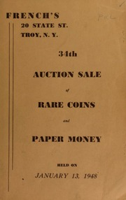 34th auction sale of rare coins and paper money. [01/13/1948]