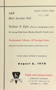 34th mail auction sale : Nathan N. Eglit, part 2 ... [08/08/1970]
