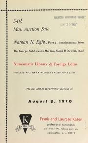 34th mail auction sale : Nathan N. Eglit, part 2 ... [08/08/1970]