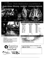 how can we help promote tourism in malaysia essay