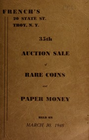 35th auction sale of rare coins and paper money. [03/30/1948]