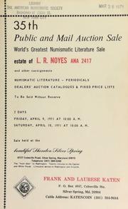 35th public and mail auction sale : world's greatest numismatic literature sale : estate of L. R. Noyes ... [04/09-10/1971] (pg. 21)