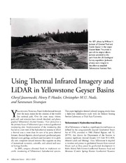 Using Lidar and Infrared for Yellowstone Imaging