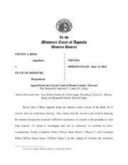 Western District Court of Appeals opinion regarding Steven Rios trial