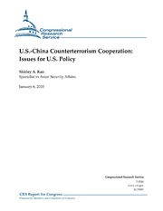 U.S.-China Counterterrorism Cooperation Issues for U.S. Policy